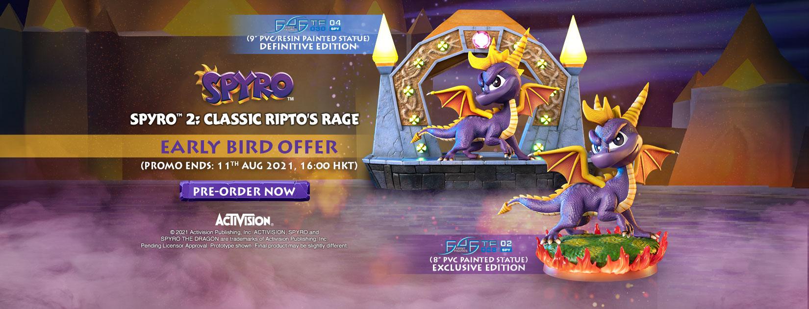 Spyro™ 2: Classic Ripto's Rage PVC statue Early Bird Offer