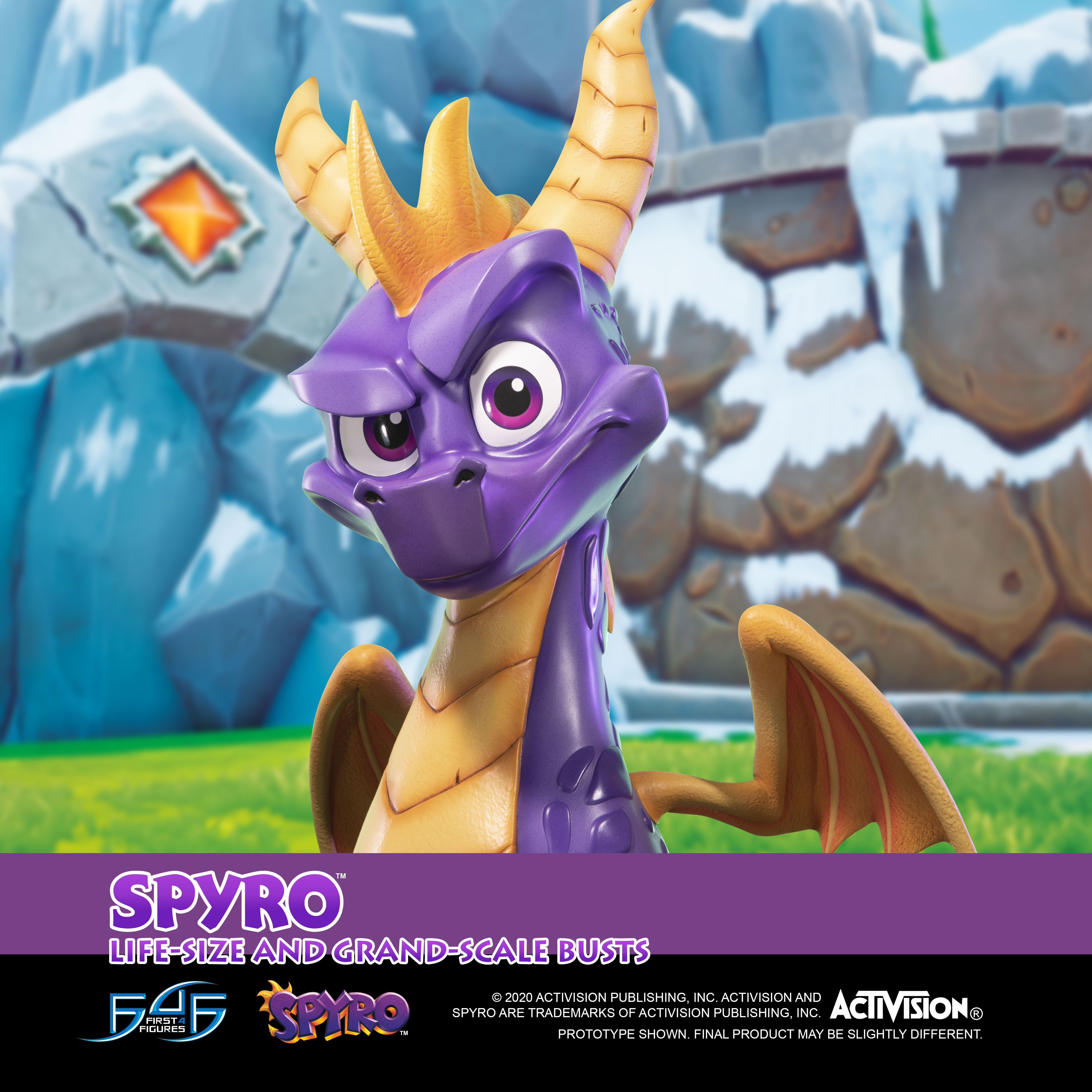 A First Look at First 4 Figures' Spyro™ the Dragon – Spyro™ Bust Statue