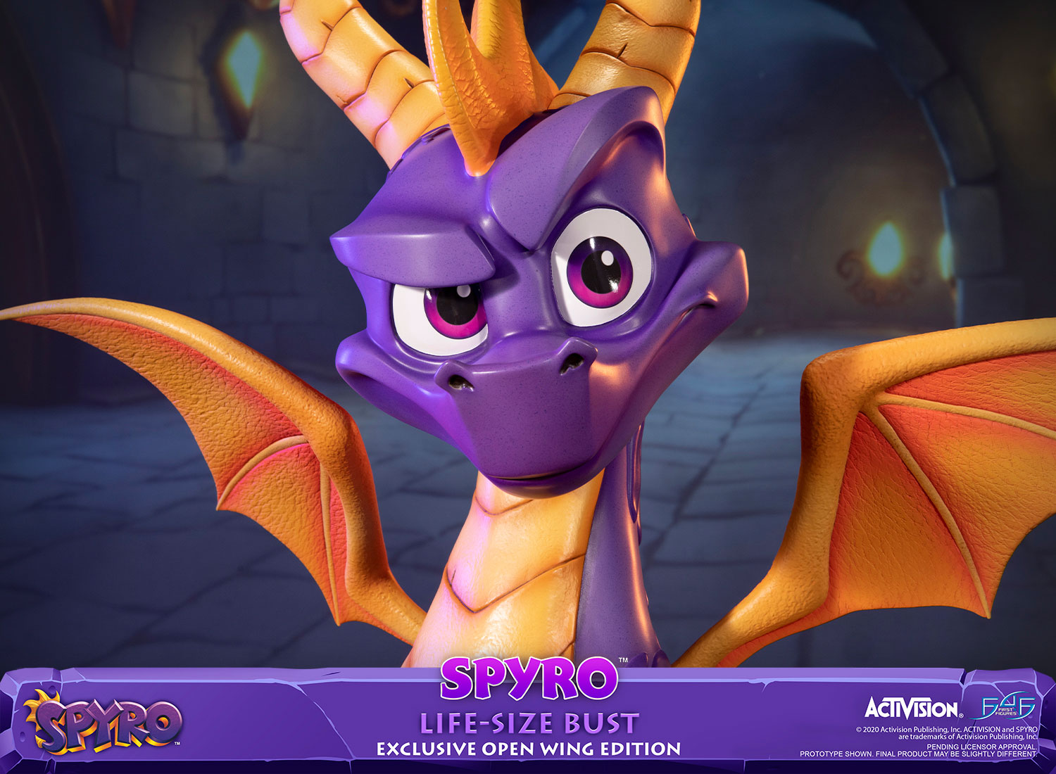 Spyro™ Life-Size Bust (Exclusive Open Wing Edition)