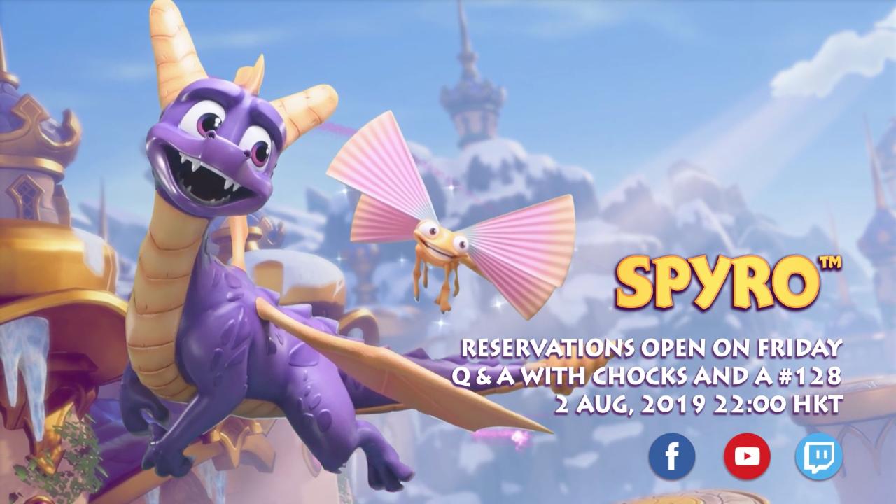 Spyro™ pre-order schedule