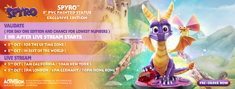 Spyro PVC (Exclusive) Validation Schedule