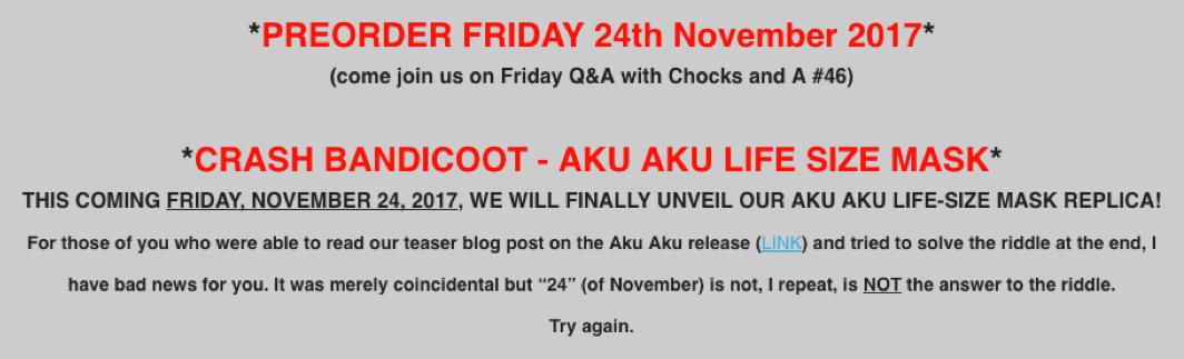 November 20, 2017 Newsletter Content